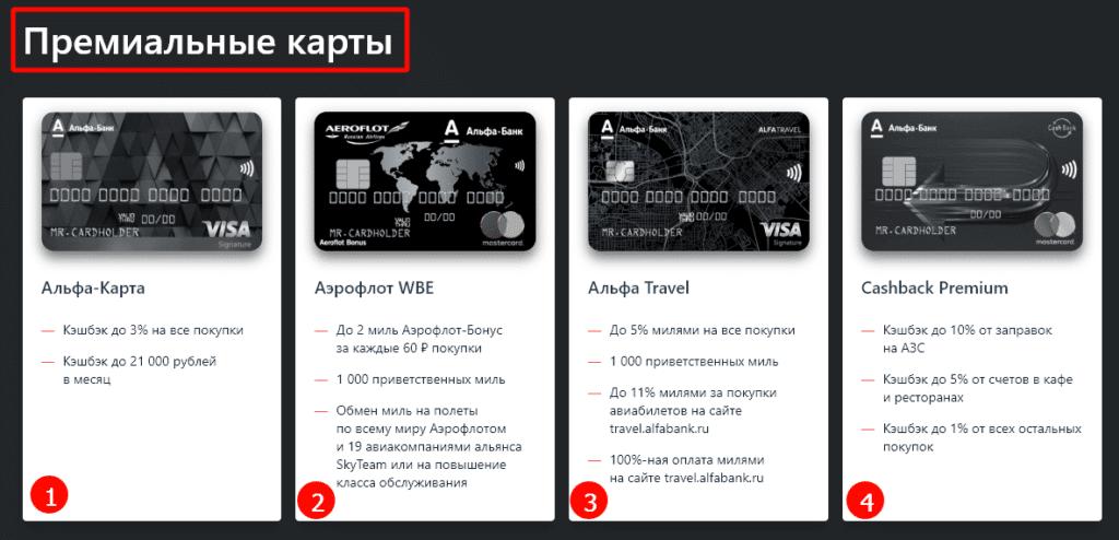 карты альфа банк с кэшбэк