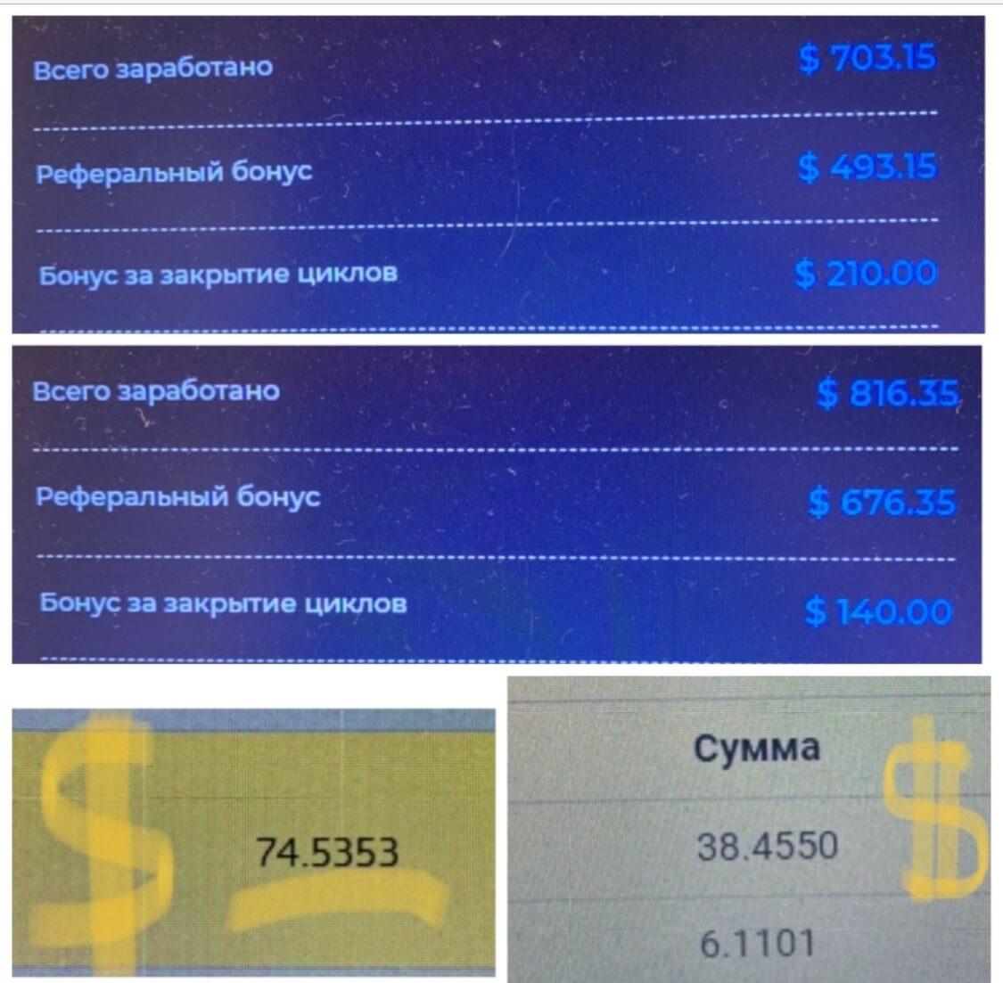 мой доход за месяц